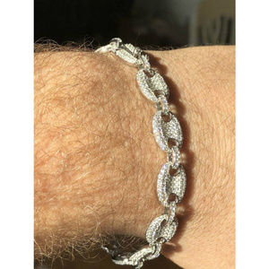 6c75a218c3686 Harlembling Accessories - Mens 10mm Puffed Gucci Link Bracelet Real Solid 92